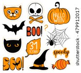 Halloween Set Elements With...