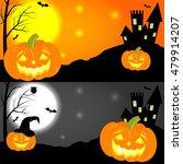 set of halloween horizontal... | Shutterstock .eps vector #479914207
