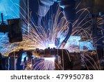 automatic welding robots... | Shutterstock . vector #479950783