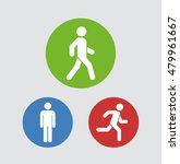 man stands  walk and run icon... | Shutterstock .eps vector #479961667
