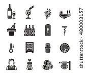 wine related vector icons set   ... | Shutterstock .eps vector #480003157