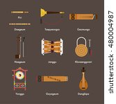 the traditional instruments... | Shutterstock .eps vector #480004987