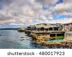 monterey bay aquarium building  ... | Shutterstock . vector #480017923