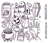 set of different attributes of... | Shutterstock .eps vector #480023923