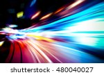 Moving Traffic Light Trails At...