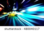 moving traffic light trails at... | Shutterstock . vector #480040117