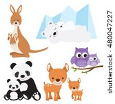 vector illustration of animal... | Shutterstock .eps vector #480047227