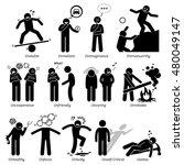 negative personalities... | Shutterstock . vector #480049147