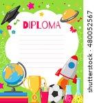 template of children's diplomas ... | Shutterstock .eps vector #480052567