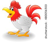 happy rooster cartoon | Shutterstock . vector #480056503