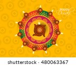 happy diwali illustration ... | Shutterstock .eps vector #480063367