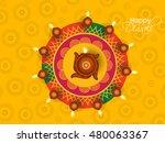 happy diwali illustration ... | Shutterstock .eps vector #480063367