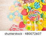 candies with different shapes... | Shutterstock . vector #480072607