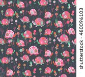 seamless pattern with cute... | Shutterstock .eps vector #480096103