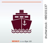 ship icon  vector illustration. ... | Shutterstock .eps vector #480101137
