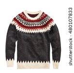 woolen sweater isolated on... | Shutterstock . vector #480107833