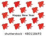 new year card . bird with... | Shutterstock .eps vector #480118693