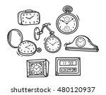 set of clock doodle | Shutterstock .eps vector #480120937