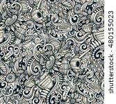 cartoon hand drawn doodles... | Shutterstock . vector #480155023