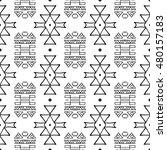 aztec seamless vector pattern.... | Shutterstock .eps vector #480157183