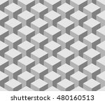isometric cubes pattern....   Shutterstock .eps vector #480160513