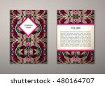 flyer template with abstract... | Shutterstock .eps vector #480164707