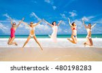 jumping wild on a sunny day  | Shutterstock . vector #480198283
