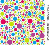 seamless colorful circle...   Shutterstock .eps vector #480224413