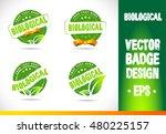 biological logo badge label... | Shutterstock .eps vector #480225157