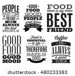 set of vintage typographic food ... | Shutterstock .eps vector #480233383