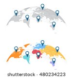 map of the world mapped on a... | Shutterstock .eps vector #480234223