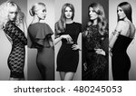 fashion collage. group of... | Shutterstock . vector #480245053