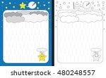 preschool worksheet for...   Shutterstock .eps vector #480248557
