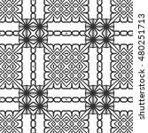 black and white seamless... | Shutterstock .eps vector #480251713
