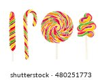 set of watercolor colorful...   Shutterstock . vector #480251773