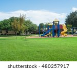 colorful children playground... | Shutterstock . vector #480257917