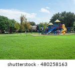 colorful children playground... | Shutterstock . vector #480258163
