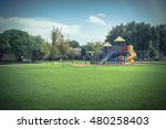colorful children playground... | Shutterstock . vector #480258403