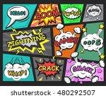 comics speech bubbles elements | Shutterstock .eps vector #480292507