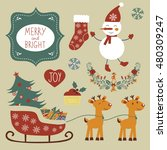 christmas graphic elements | Shutterstock .eps vector #480309247