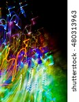 colorful glowing abstract... | Shutterstock . vector #480313963