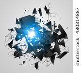 abstract black explosion....   Shutterstock .eps vector #480314887