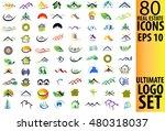 real estate logo set | Shutterstock .eps vector #480318037