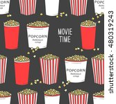 collection of popcorn hand... | Shutterstock .eps vector #480319243