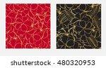 set of flowers frangipani... | Shutterstock .eps vector #480320953
