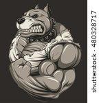 vector illustration of a strong ... | Shutterstock .eps vector #480328717