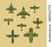 pixel art style retro game...   Shutterstock .eps vector #480341773
