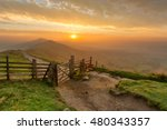 Golden Sunrise At Mam Tor In...