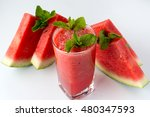 cocktail of watermelon in glass ... | Shutterstock . vector #480347593
