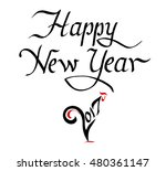 happy new year 2017  creative... | Shutterstock .eps vector #480361147